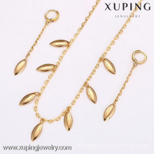 62509-Xuping Trend Leaf Shape Jewelry Gold Wholesale With Good Quality