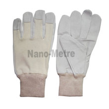 NMSAFETY 2016 new design pigskin leather work gloves leather for Asia market