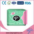 Tapis médical des femmes Ion négatif en bambou Différents types de serviettes hygiéniques menstruelles