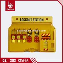 BD-B101 China Lockout Station Advanced Elektrische Sicherheit Lockout & Tagout Station für Vorhängeschloss Hasp