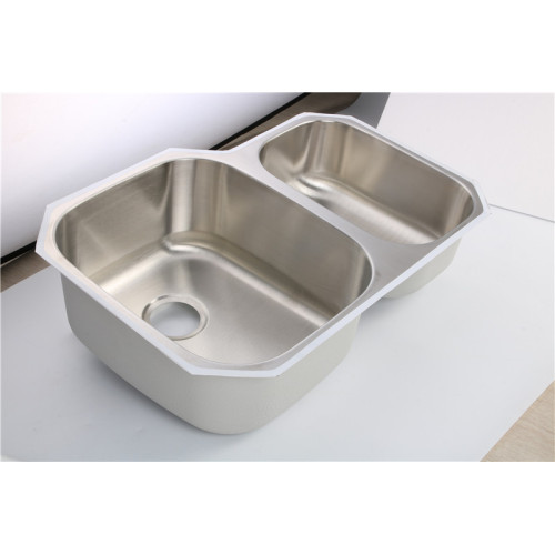 Unterbau Double Bowl Bar Basin 7553AL