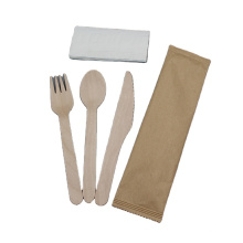 Birch Wooden Cutlery Wholesale Disposable Spoon Fork Knife Set For Tableware