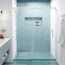 Seawin Hotel home used Tempered safety Glass 1 panel Sliding Shower Door