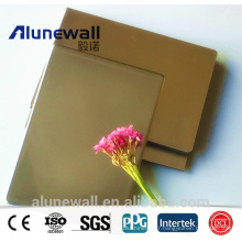 Alunewall fireproof stainless steel exterior wall cladding aluminum composite panel