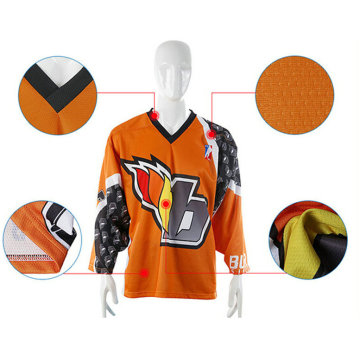 Maillots de pratique de hockey de sublimation décontractée