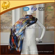 Impression numérique pleine largeur 100% châle en soie pure