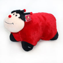 plush ladybug cushion  fold pillow