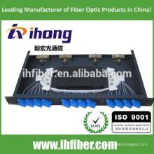 Panel de conexión de fibra óptica de montaje en bastidor de 12 puertos / mini ODF / caja de terminales