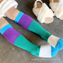 kids cotton striped soft socks unisex knee high socks stripe