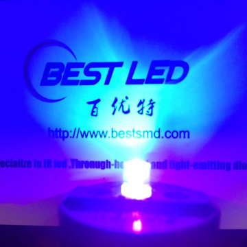 5mm blinkende LED Rot & Blau Flat Top