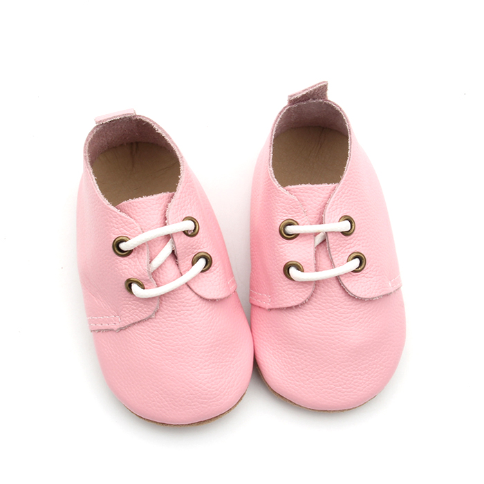 Pink Cute Soft Sole Baby Genuine Oxford Shoes