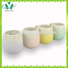 Hot Sale 100% pintados à mão quatro cores cerâmica copos, cerâmica Cup BSCI