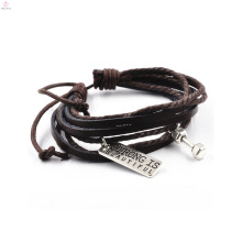 Multi Layer Vintage Cheap Faux Leather Trending Hot Products Gym Bracelet
