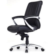 Traditional Design of Office Swivel Chair with Black Leather