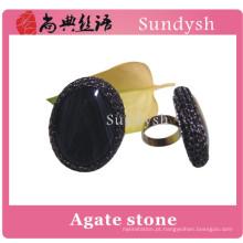 moda popular áspero robusto artificial grande vintage semi precioso multi cor única grande pedra