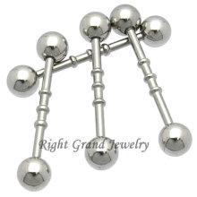 316L сталь тройной зубчатый прямой пирсинг хряща уха кольцо