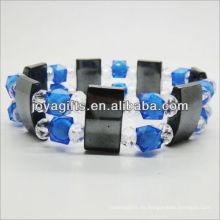 01B5007 / nuevos productos para 2013 / hematita spacer pulsera brazaletes / brazaletes de hematites