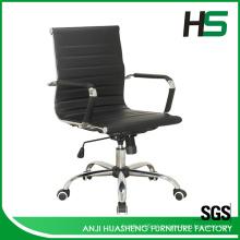 Cadeiras de couro preto / cadeiras de couro