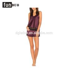 women sling Sexy girls Night dress short Satin Pajamas sets