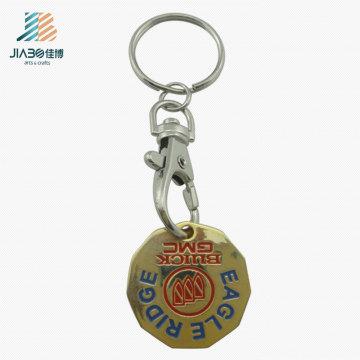 Высокое качество Впечатка заполнение цветом золота знака внимания вагонетки keychain для Промотирования