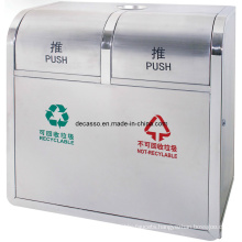 Two Compartments Recycling Trash Can (DL109)