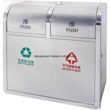 Dois compartimentos Reciclagem Lixeira (DL109)