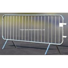 Барьер контроля толпы 2.5 м Свободный носок Временный забор / ограждение безопасности