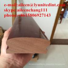 barandilla de madera maciza