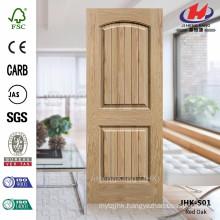 JHK-S01 Thickness 5mm Lattice And Wood Grain Nature Oak Veneer Door Skin