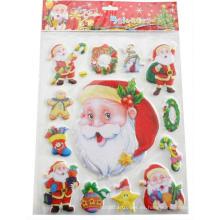 niños lindos felices pegatinas de vacaciones de Navidad del padre