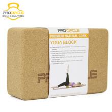 Bloc de yoga naturel de liège d'impression personnalisée de Procircle
