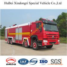 22ton HOWO Espuma coche de bomberos Euro4