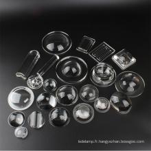 Lentille de ménisque claire de haute qualité pour lumière LED
