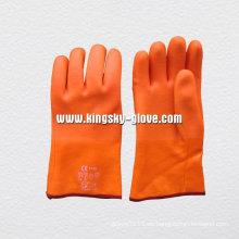 Sandy Finish Schaum Liner PVC Winter Handschuh-5123