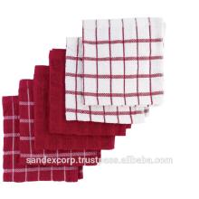 red kitchen towel