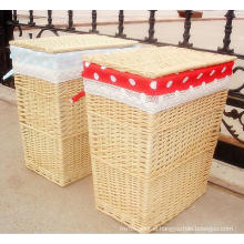 (BC-ST1097) High Quality Handmade Willow Laundry Basket with Cover