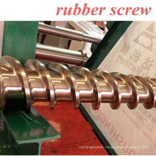 cool feeding rubber screw and barrel different design screw structure for silicone cable, rubber cable, profile, pipe ZHOUSHAN M