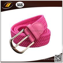 Nueva moda de poliéster Braid Stretch Belt con hebilla Pin