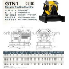 Machine de traction d'ascenseur (série Grealess-GTN)