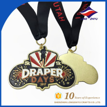 Médaille Custom Marathon Enamel Souple