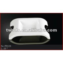 restaurant tableware durable white porcelain show plates(No.P0124)