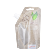 Reclosable Health Food Fresh Pouch Stand up Spout Bag Kraft Paper Bags