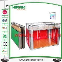Metal Foldable Promotuion Table Desk for Supermarket