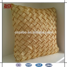 Chinese Wholesale Supplier Santin Style Gold Mat Grain Woven Santin Style Throw Pillows Cushions