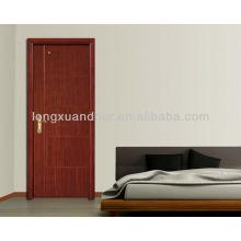 Portes intérieures bon marché, conception de bois de porte de pièce, portes en bois hdf