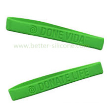 Debossed Logo Rubber Silicone Wristband for Gifts