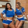 2020 Hot Sale New tight print color two piece plus size dress suit track suit for women