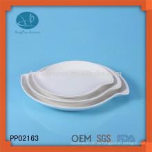 Beliebte keramische Platte Satz, Teller-Set, OEM weiße Keramikplatte