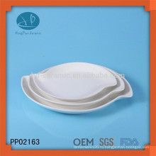 Популярный набор керамических пластин, набор посуды, oem белая керамическая плита