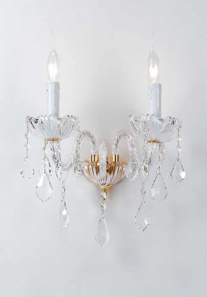 crystal wall light types